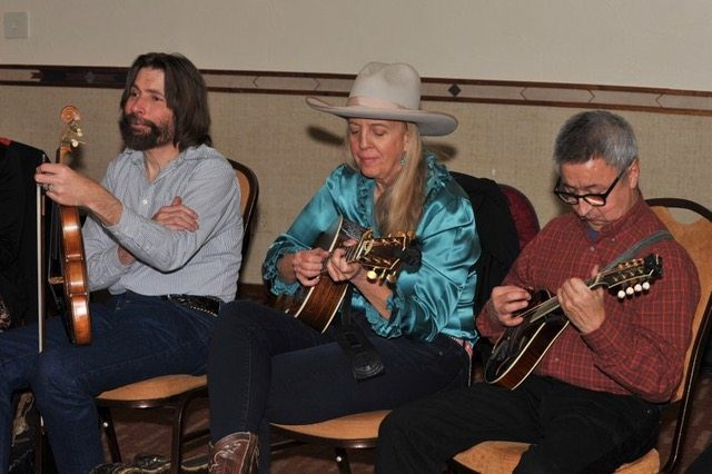 Rex Rideout, Joyce Woodson & Ernie Martinez Colorado Cowboy Poetry Gathering Golden Colorado